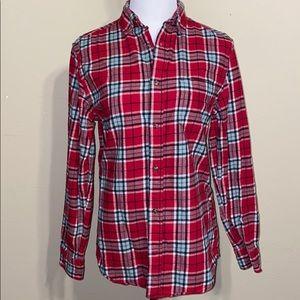Merona Plaid Button-Up Long Sleeve Flannel